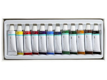 4601 akrylove barvy 12x12ml faber castell 169501