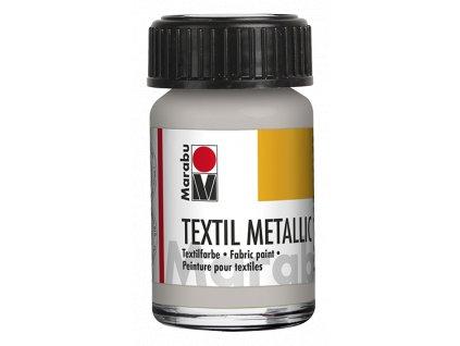 4610 barva na svetly textil marabu textil metallic 15 ml stribrna 782