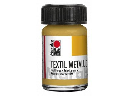 4613 barva na svetly textil marabu textil metallic 15 ml zlata 784