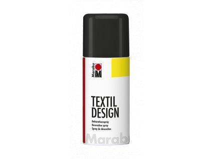 4868 barva na textil ve spreji marabu textil design spray 150 ml cerna 073
