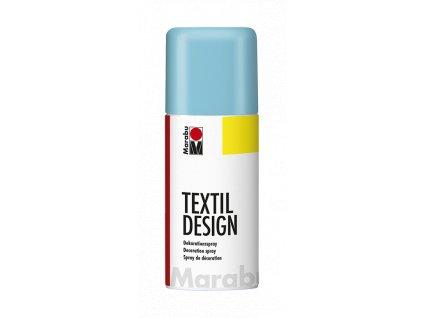 4871 barva na textil ve spreji marabu textil design spray 150 ml modra karibska 091