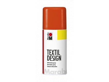 4883 barva na textil ve spreji marabu textil design spray 150 ml oranzova neonova 324