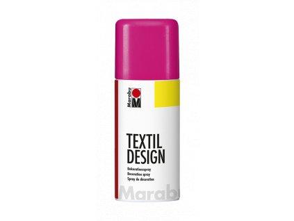 4886 barva na textil ve spreji marabu textil design spray 150 ml ruzova neonova 334