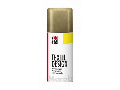 4892 barva na textil ve spreji marabu textil design spray 150 ml zlata metalicka 784