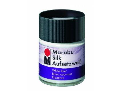 4901 kryci bila barva na hedvabi marabu silk 50 ml