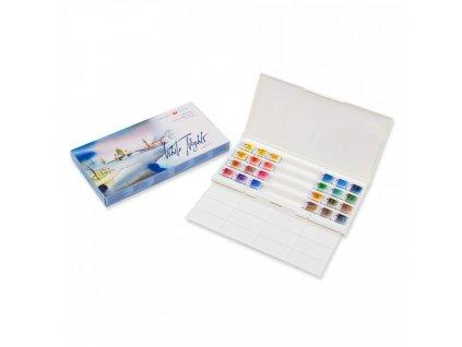 5306 nevskaya palitra akvarelove barvy white nights 24 barev plastova paleta