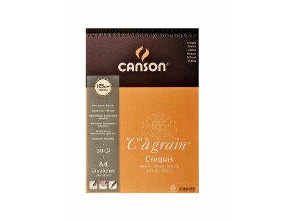 5438 canson cagrain blok spiralovy a4 30 listu 125 g