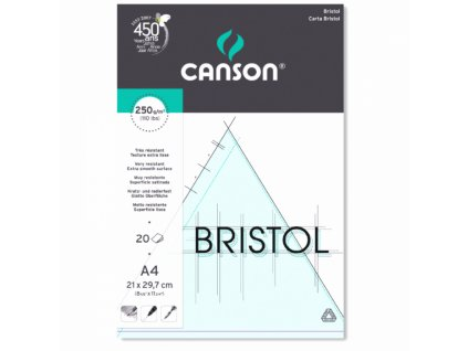 5723 graficky blok canson bristol a4 250g 20listu
