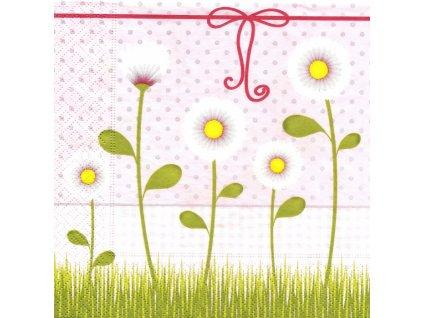 6086 ubrousek 33x33 cm lovely daisies