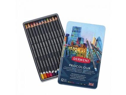 6305 2 derwent procolour sada 12 umeleckych pastelek 2302505
