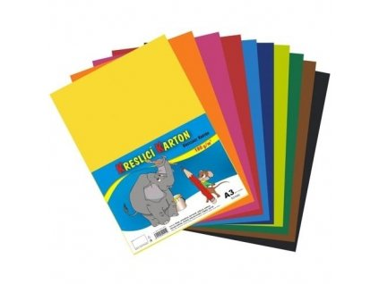 6341 kreslici karton a3 180g 50 archu mix barev