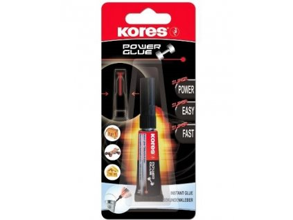 6572 vterinove lepidlo kores power glue gel 3g