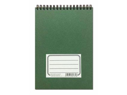 6659 zelenac krouzkovy blok a5 horni vazba linky tecky 50 listu
