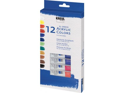 6716 kreul akrylove barvy el greco 12x12 ml