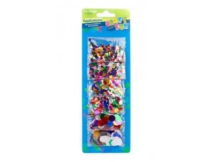6761 craft with fun dekorace flitry mix tvaru a barev 5g 6bal