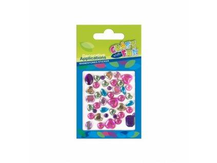 6971 craft with fun dekorativni nalepovaci kaminky diamanty barevny mix