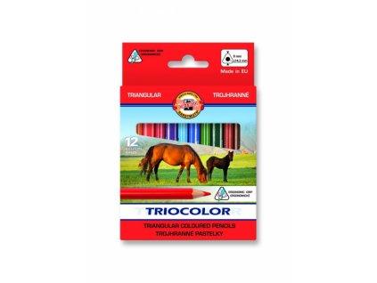 6986 1 pastelky kratke triocolor koh i noor 3142 12 barev