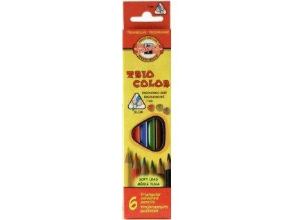 6989 1 pastelky triocolor sada 6 barev