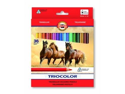 7004 1 koh i noor pastelky triocolor 3145 36 barev