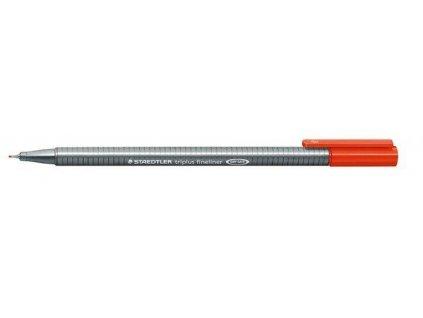 7301 2 staedtler triplus fineliner 334 0 3mm 2 cervena