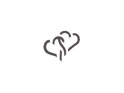 7901 ozdobna derovacka 3d 15 mm 2 srdce