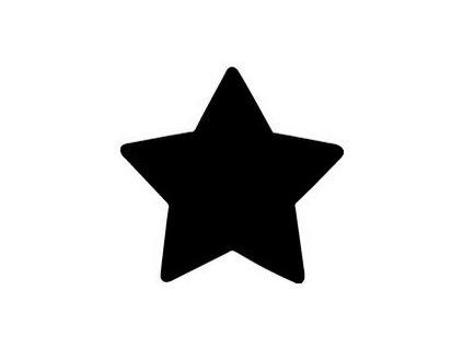 7979 ozdobna derovacka 25 mm hvezda