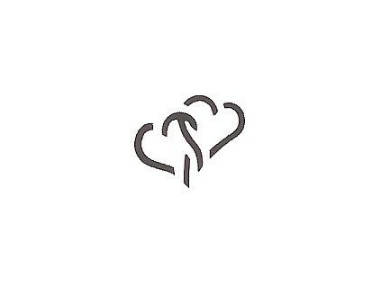 8048 ozdobna derovacka 3d 25 mm 2 srdce