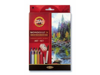 8165 1 akvarelove pastelky koh i noor mondeluz 3711 sada 24 barev 2 stetce orezavatko