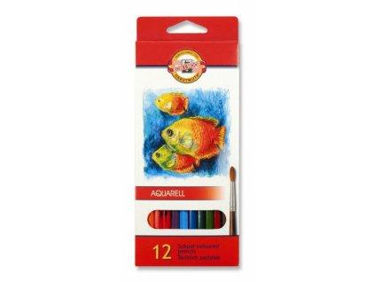 8189 1 akvarelove pastelky koh i noor 3716 sada 12 barev
