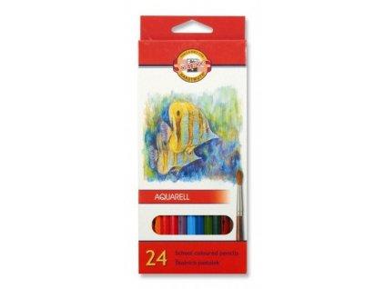 8198 1 akvarelove pastelky koh i noor 3718 sada 24 barev