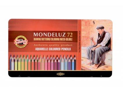 8219 1 akvarelove pastelky koh i noor mondeluz 3727 sada 72 barev v plechovem obalu