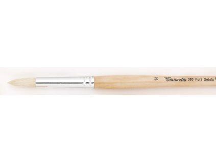 Štětec 380-4 kulatý dlouhý White Bristle Tintoretto
