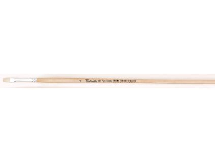 Štětec 382-0 plochý dlouhý White Bristle Tintoretto