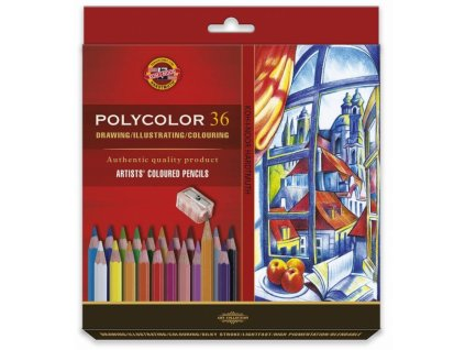 8687 1 umelecke pastelky polycolor 36ks v krabicce 3835