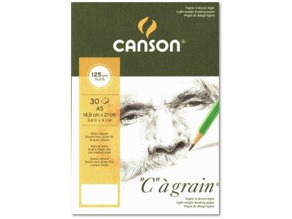 8771 graficky papir canson cagrain blok lepeny a5 125g 30 listu