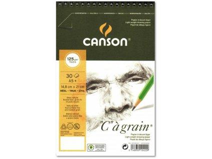 8777 graficky papir canson cagrain blok krouzkovy a5 125g 30 listu
