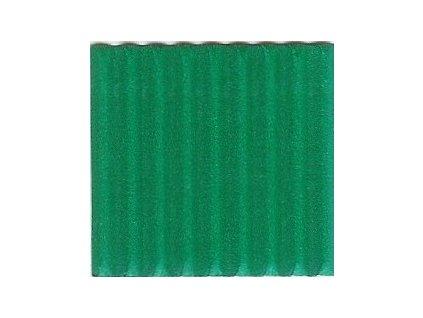 9242 vlnita lepenka 50x70 cm zelena stredne