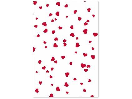 9692 karton 200 g a4 bily cervena srdicka