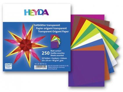 9800 origami 10x10 cm 250 ks 40 g transparentni
