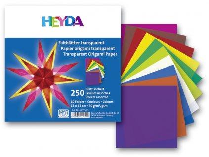9806 origami 15x15 cm 250 ks 40 g transparentni