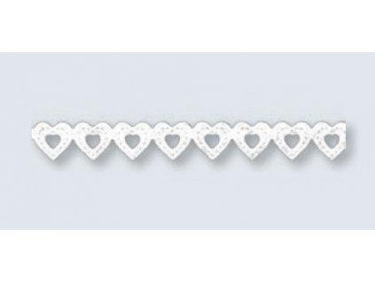 9833 1 krajka papirova samolepici 8 mm srdce