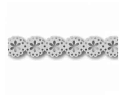 9845 krajka papirova samolepici 10mm kvety