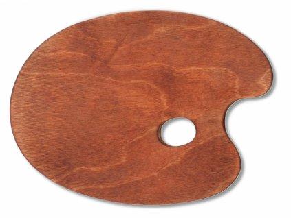 10460 malirska paleta drevena ovalna 250x345 mm voskovana