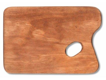 10466 malirska paleta drevena obdelnikova 165x245 mm voskovana