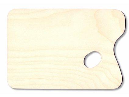 10469 malirska paleta drevena obdelnikova 245x165 mm prirodni