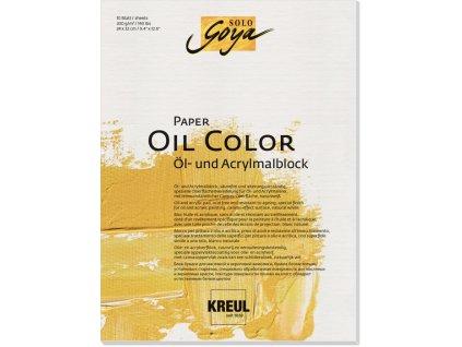 11024 kreul papir na olej blok solo goya 300g 24x32cm 10 listu