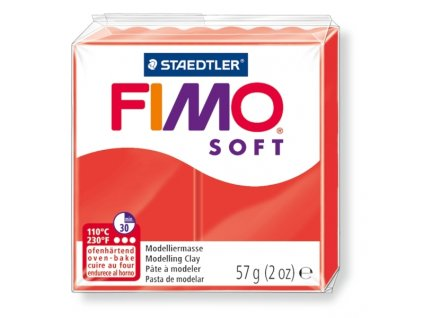 11426 fimo soft polymerova hmota 57g cervena 24