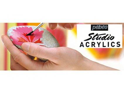 11765 akrylova barva pebeo studio acrylic 100 ml 023 kadmium zlute stredni