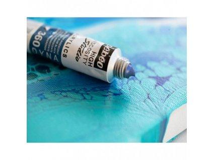 11885 akrylova barva pebeo studio acrylic 100 ml 351 stribrna iridescentni