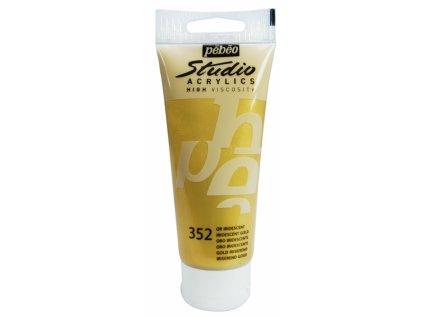 11888 akrylova barva pebeo studio acrylic 100 ml 352 zlata iridescentni